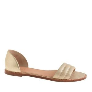 New J Crew Hayes metallic suede sandals